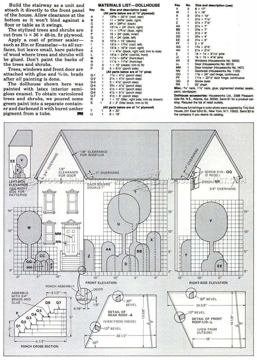 618 Wooden Doll House Plans gf