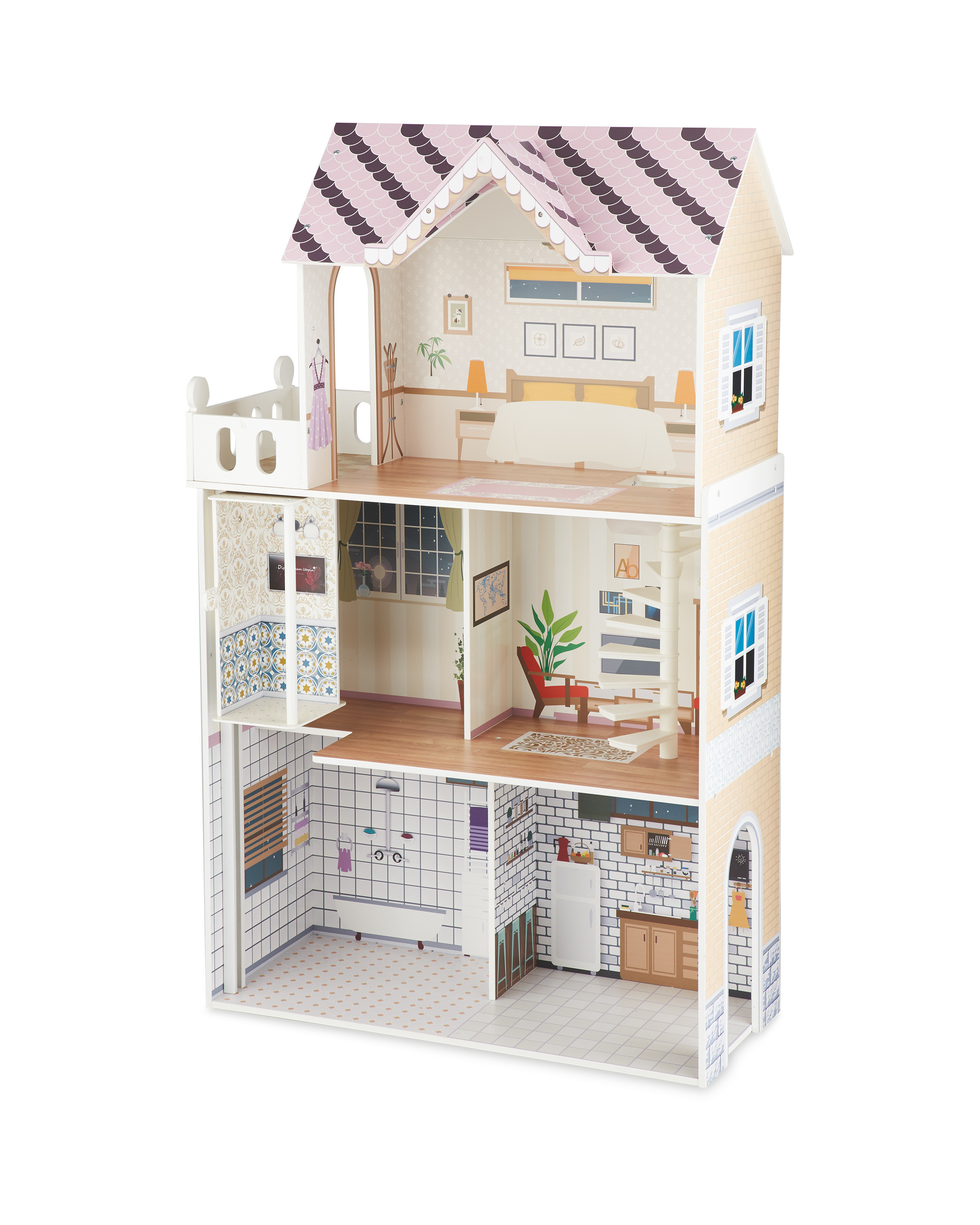 Wooden Doll House Plans Awesome Wooden Open Plan Dolls House