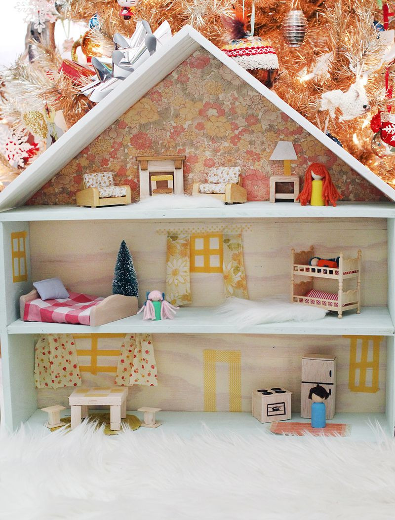 Wooden Doll House Plans Lovely How to Build A Dollhouse A Beautiful Mess