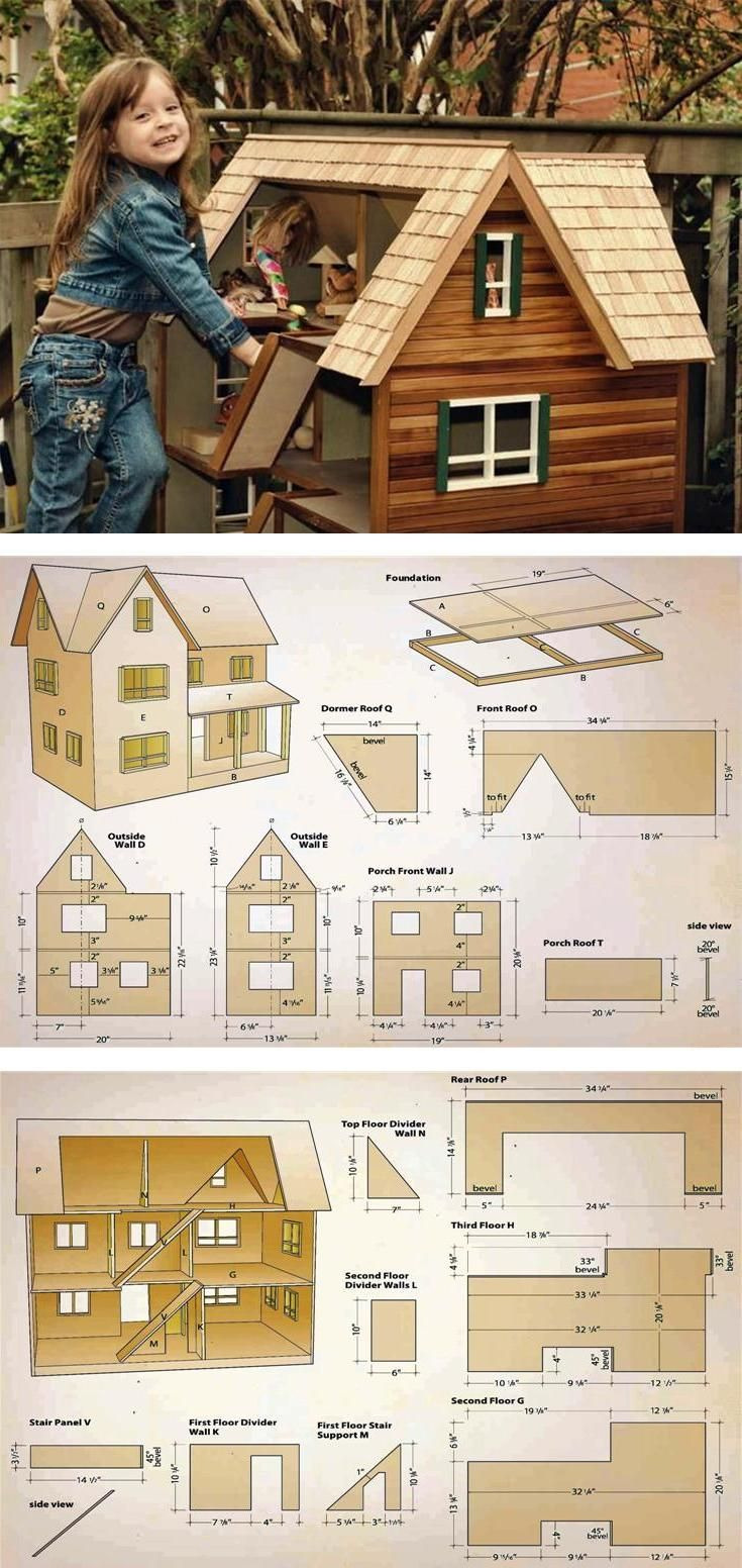 Wooden Doll House Plans New Wood Profits Doll House Plans Wooden toy Plans and
