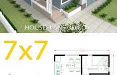 2 Bedroom Homes To Build Unique House Design 7x7 With 2 Bedrooms Full Plans