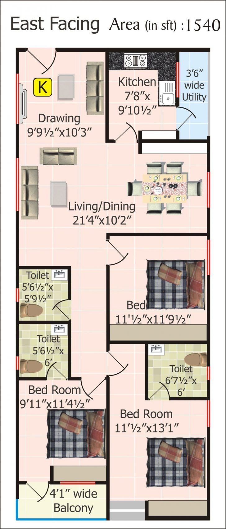 20 by 20 House Plan 2021