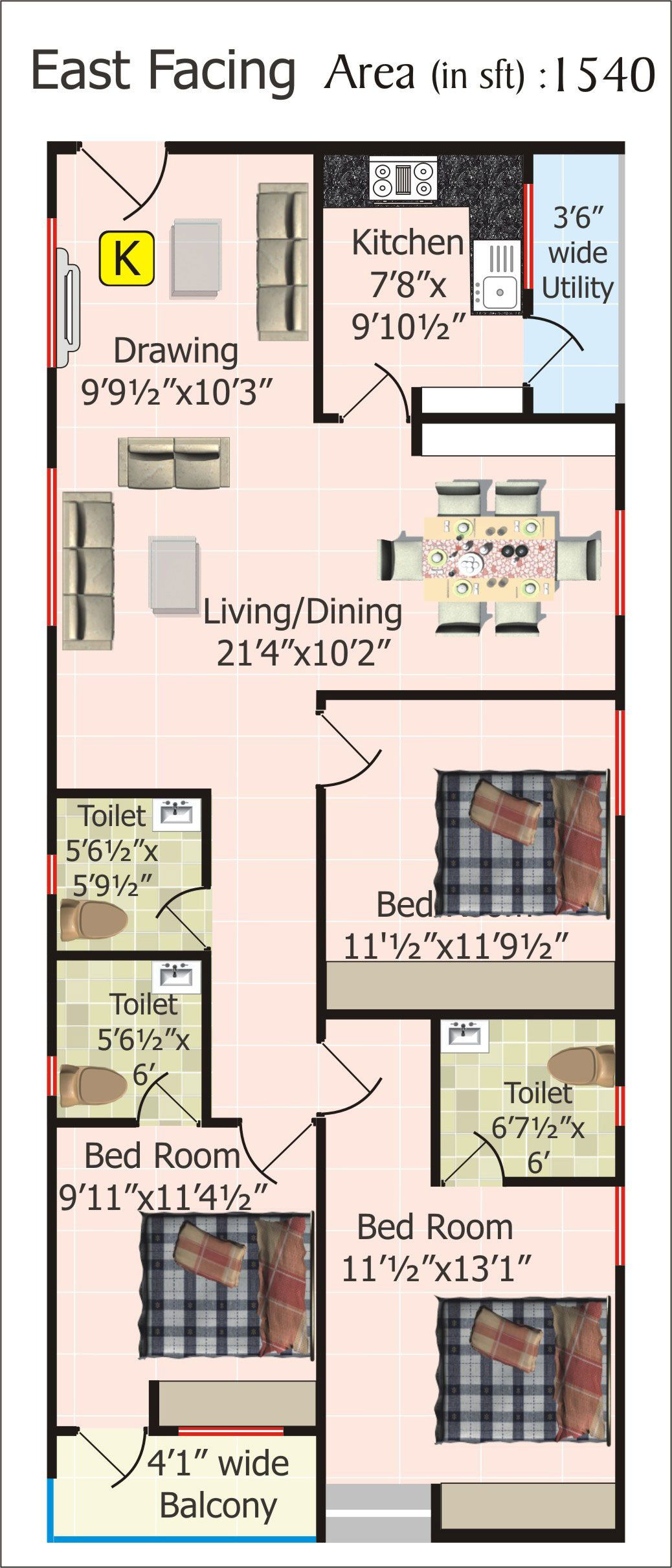 20 by 20 House Plan Fresh Floor Plans for 20 X 60 House