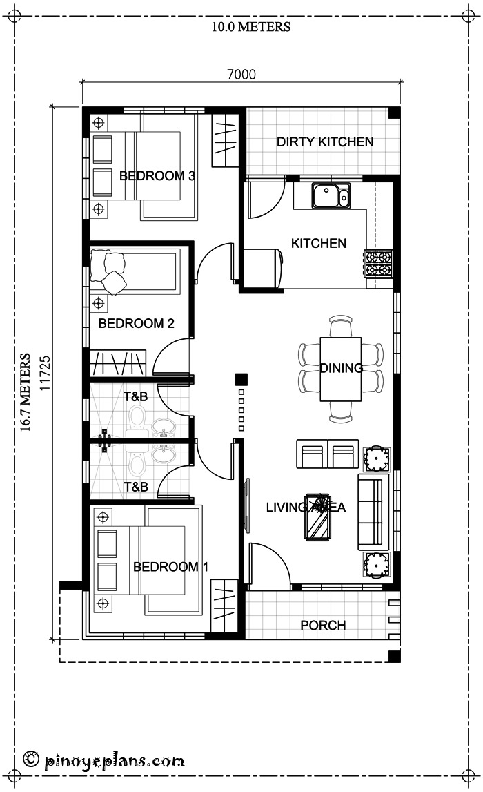 simple yet elegant 3 bedroom house design shd 2