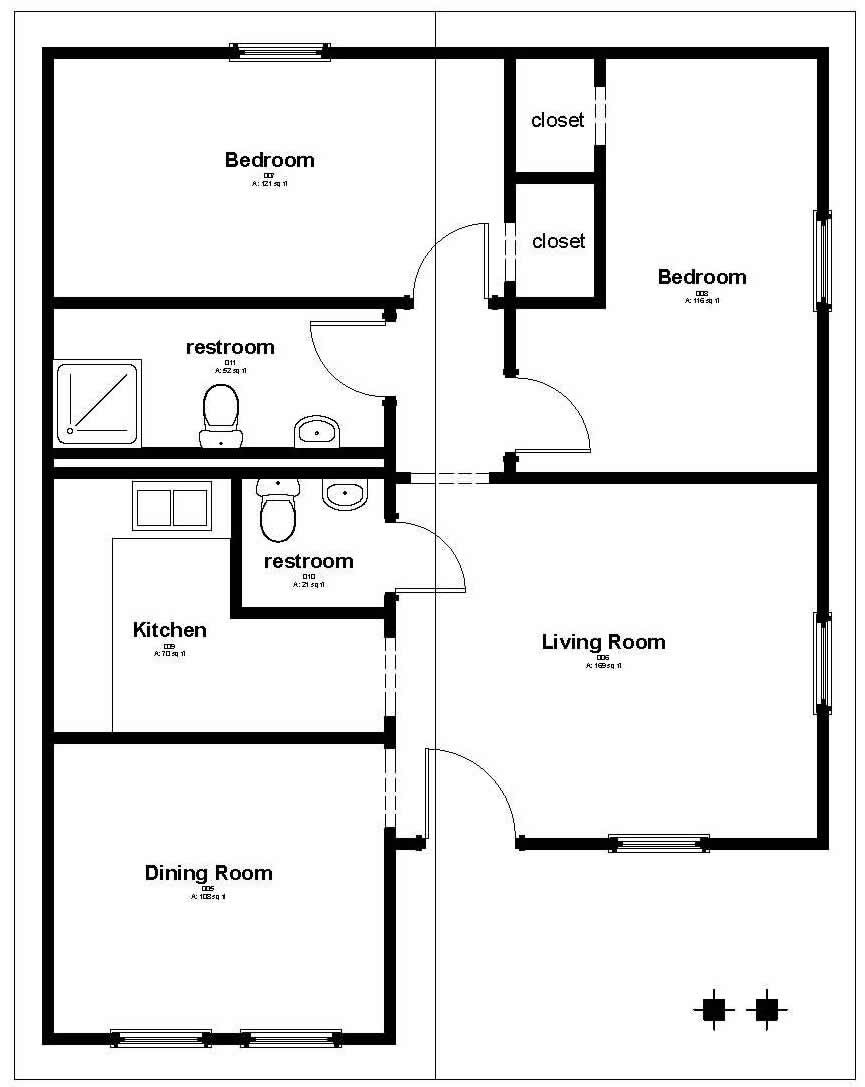 floor plan 858 sq ft house