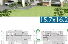 African House Plans Free Lovely 4 Bedroom House Size 15 7x16 2m Samphoas Plansearch In