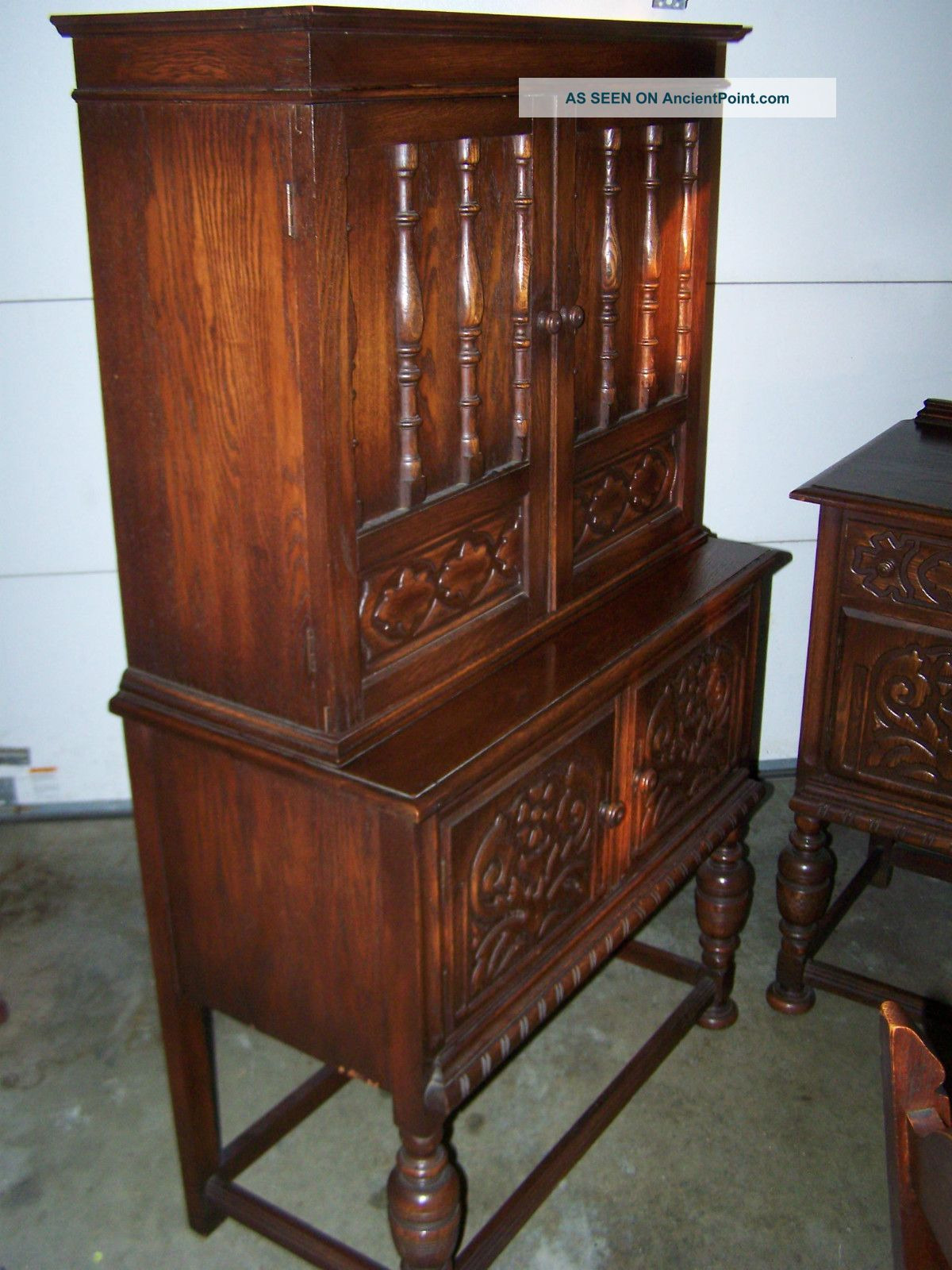 antique early 1900 s bernhardt furniture pany dark wood dining room suite
