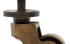 """Antique Brass Furniture Casters Beautiful Solid Brass English Style Caster With 1"""" Brass Wheel In"""