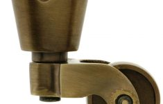 """Antique Brass Furniture Casters Lovely Solid Brass Round Cup Caster With 1"""" Brass Wheel In Antique"""