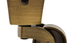 """Antique Brass Furniture Casters Lovely Square Cup Caster With 1 1 4"""" Brass Wheel In Antique"""