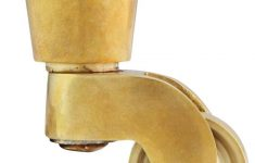 """Antique Brass Furniture Casters New Solid Brass Round Cup Caster With 3 4"""" Brass Wheel"""