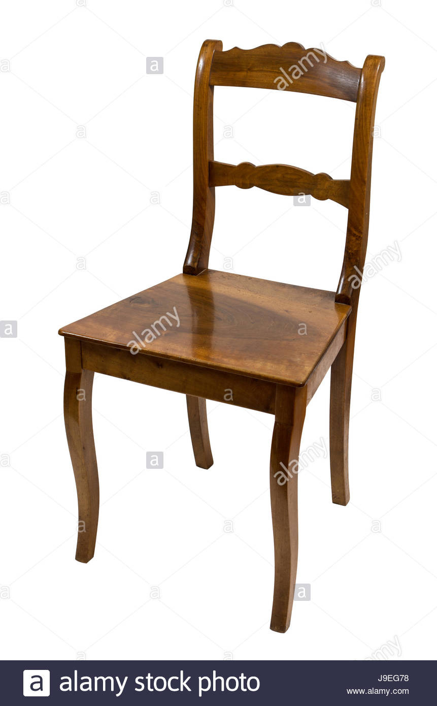 furniture wood antique cherry tree chair isolated furniture wood J9EG78