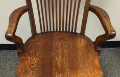 Antique Executive Office Furniture Luxury Antique Oak High Back Swivel Banker S Lawyer S Executive