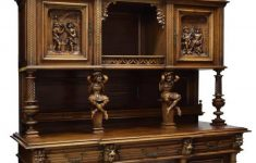 Antique French Furniture For Sale Elegant French Gothic Revival Figural Carved Sideboard
