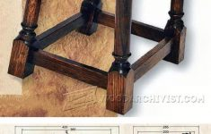 Antique Furniture Building Plans Best Of Tudor Style Stool Plan Furniture Plans And Projects