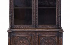 Antique Furniture From India Inspirational Padauk Victorian Carved Anglo Indian Glazed Bookcase Display