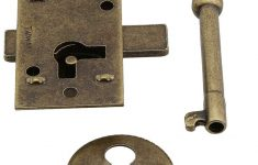 Antique Furniture Locks And Keys Fresh Small Brass Plated Non Mortise Cabinet Lock In Antique Brass