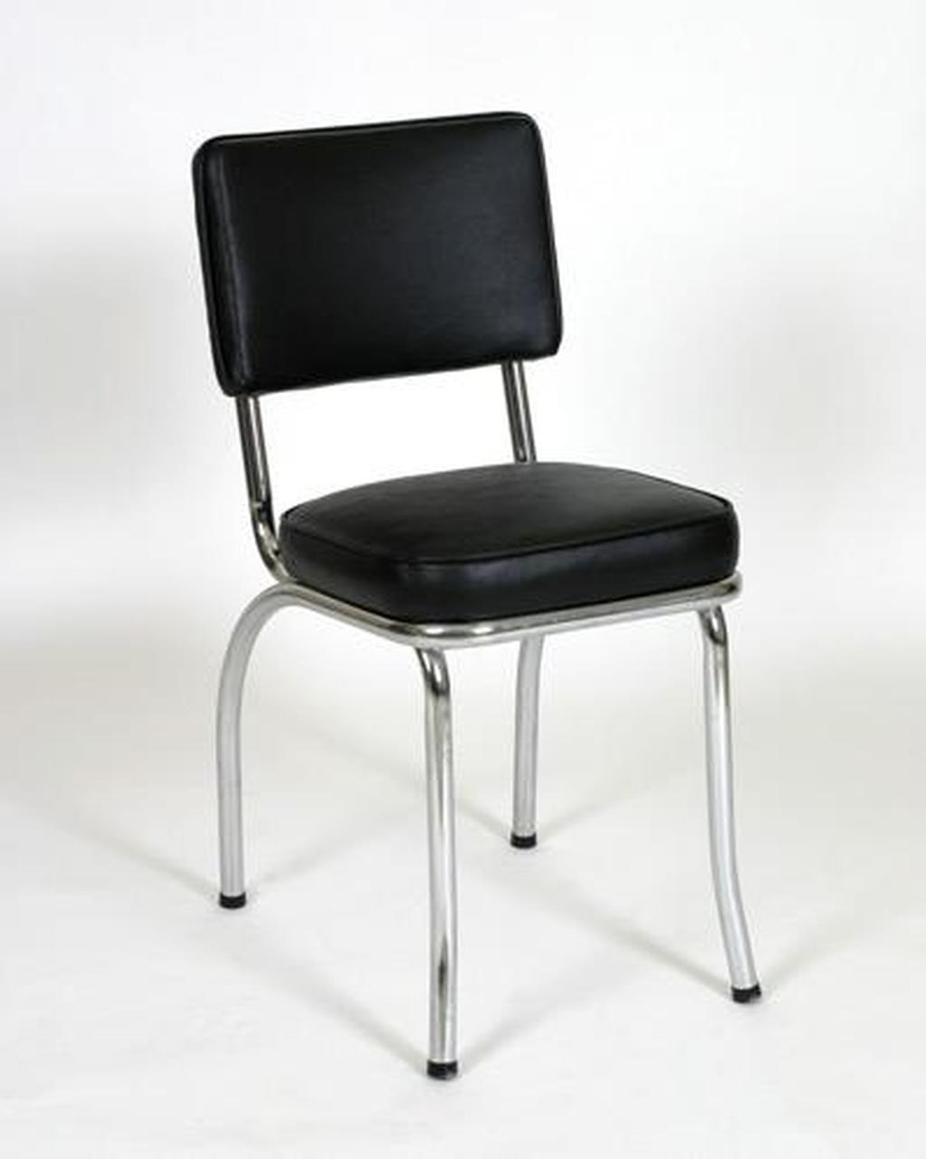 black classic diner chair