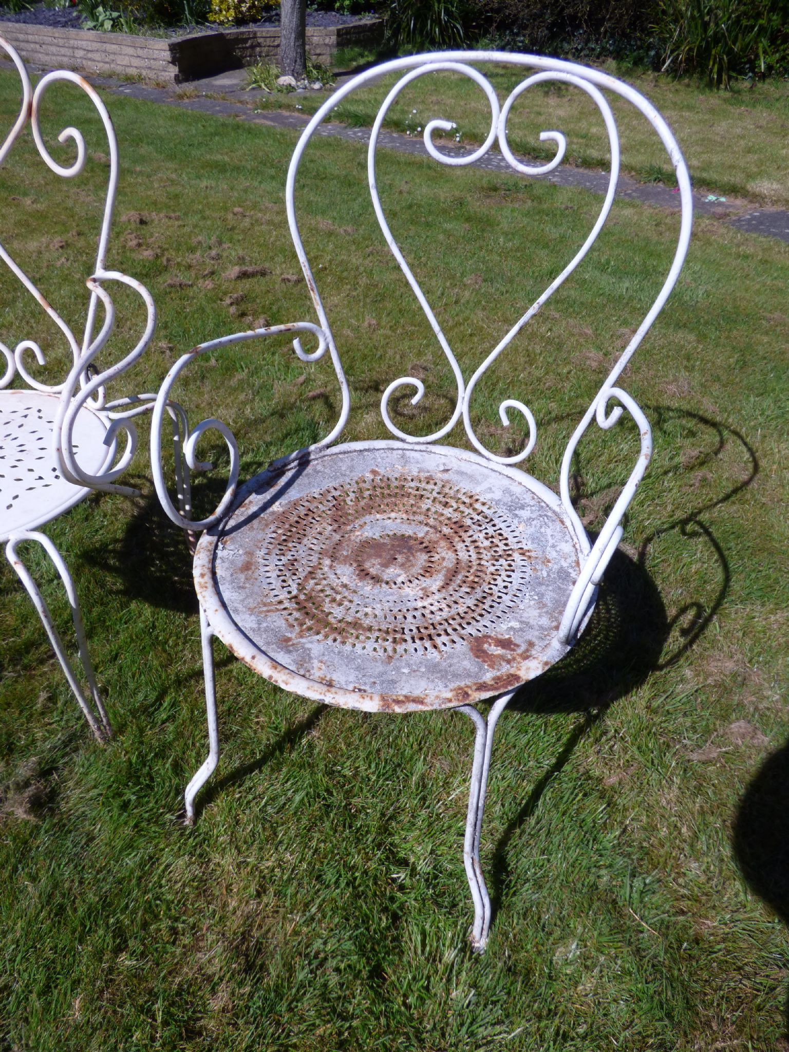 vintage french garden chairs odd set of four sold 948 p