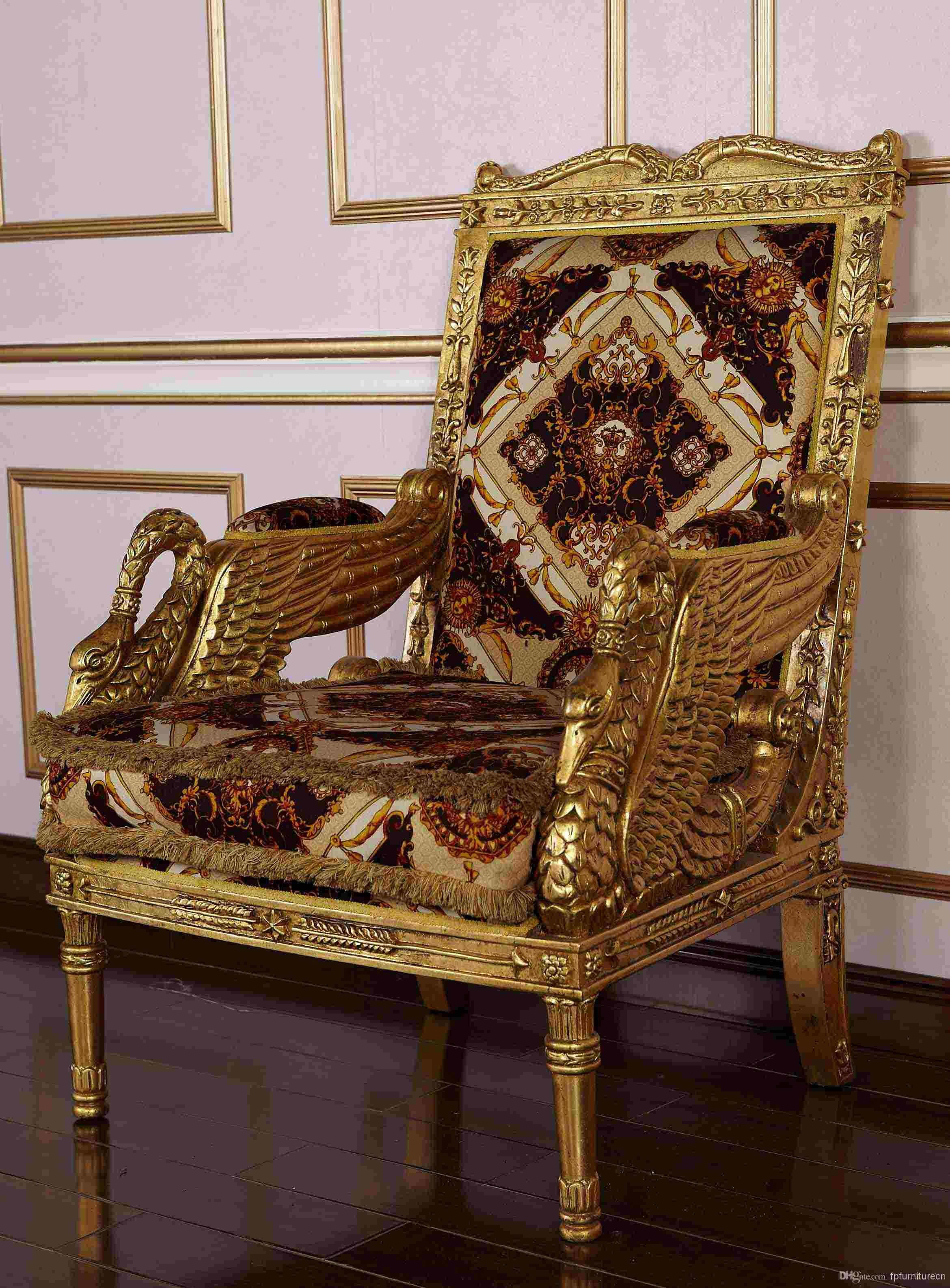 royal classic european furniture hand carved solid wood armchair hand carved wood sculptures hand carved fish