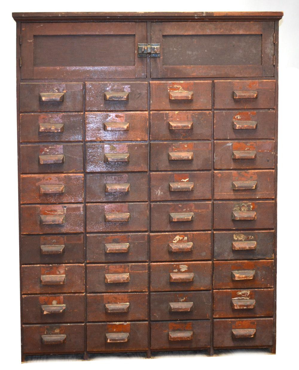 antique hardware store 36 drawer cabinet 217 c ace469cb5b