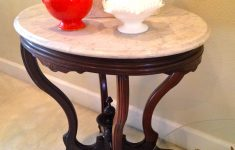 Antique Marble Top Furniture Fresh Antique Marble Top Table With Ceramic Wheels $259 Sold