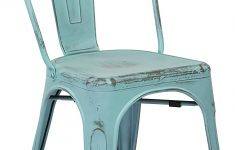 Antique Metal Outdoor Furniture New Fice Star Bristow Metal Seat And Back Armless Chair Antique Sky Blue 4 Pack