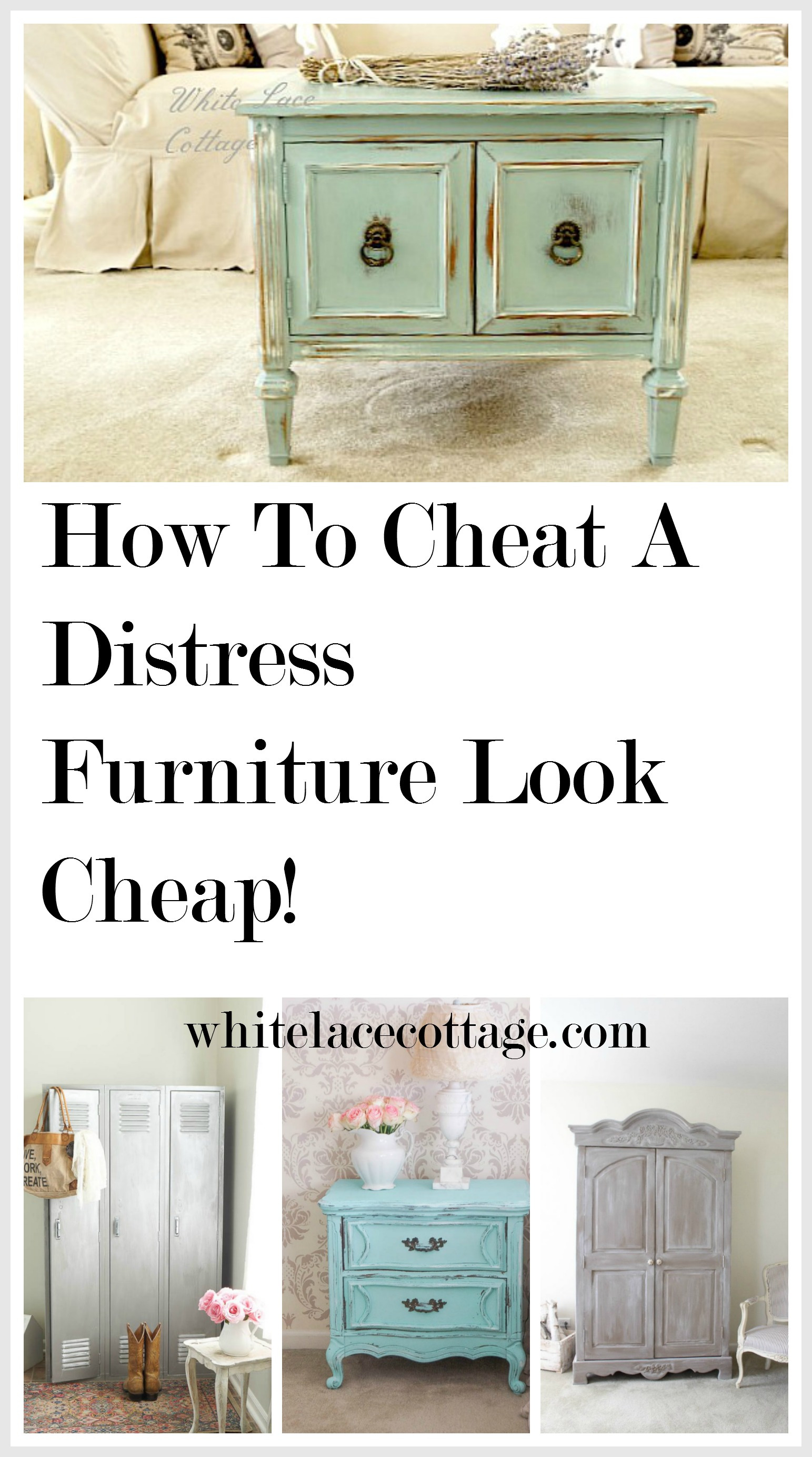How To Cheat A Distress Furniture Look Cheap