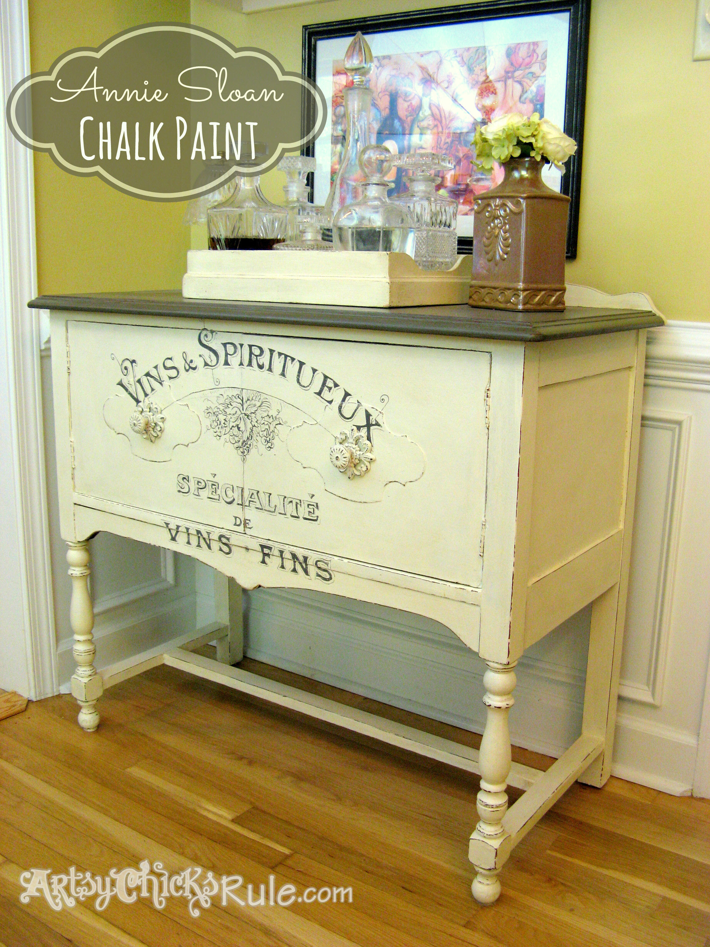 Antique Sideboard Makeover Chalk Paint Graphics