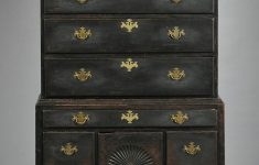 Antique Painted Furniture For Sale Elegant Queen Anne Black Painted Carved Maple High Chest Of Drawers