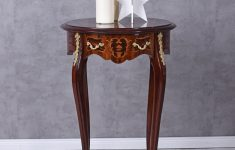 Antique Round Tables Furniture Beautiful Console Table Baroque Table Flower Stand Side Table Antique