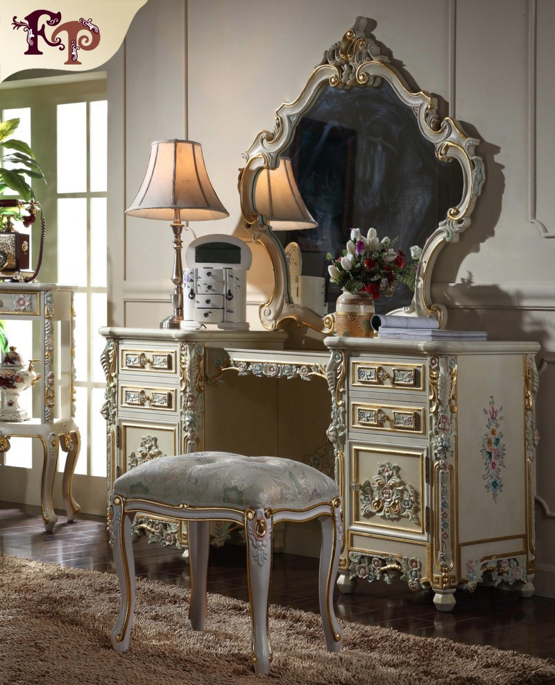 luxury french style bedroom furniture dressing mirror