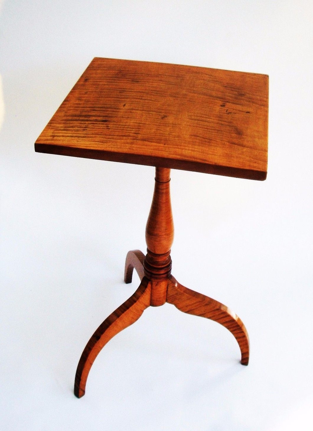 Antique Tiger Maple Furniture Luxury 1750 Tiger Maple Candle Stand Federal Furniture – Stahl Antiques