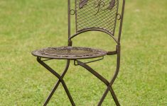 Antique Wrought Iron Garden Furniture Fresh 2x Garden Seat Per 9kg Wrought Iron Chair Folding Chair Antique Style Brown