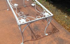 Antique Wrought Iron Outdoor Furniture Beautiful Coffee Table Salterini Vintage Sold