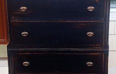 Antiquing Furniture With Black Paint Beautiful Antique Dresser Painted In Black Chalk Paint Distressed And