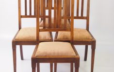 Arts And Crafts Antique Furniture Awesome Set Of 4 Edwardian Arts & Crafts Oak Chairs La