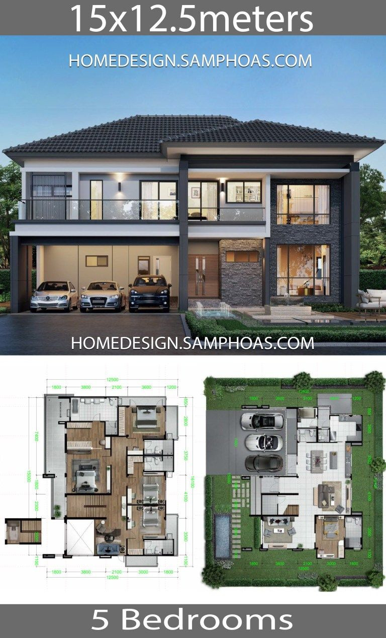 Beautiful House Designs and Plans Fresh Home Design Plans 15x12 5m with 5 Bedrooms In 2020