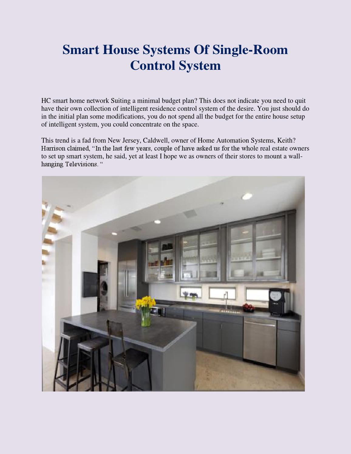 smart house systems of single room