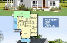 Building A Two Bedroom House Luxury Plan La Charming E Story Two Bed Farmhouse Plan With