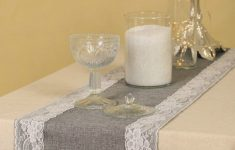 Burlap Table Runner With Lace Trim Fresh Us $9 7 Off Grey Burlap Table Runner With Lace Trim For Rustic Chic Fall Wedding Party Home Dinning Table Dresser Decor Machine Washable In Party