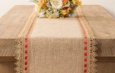Burlap Table Runner With Lace Trim New Burlap Table Runner With Gold Lace Trim