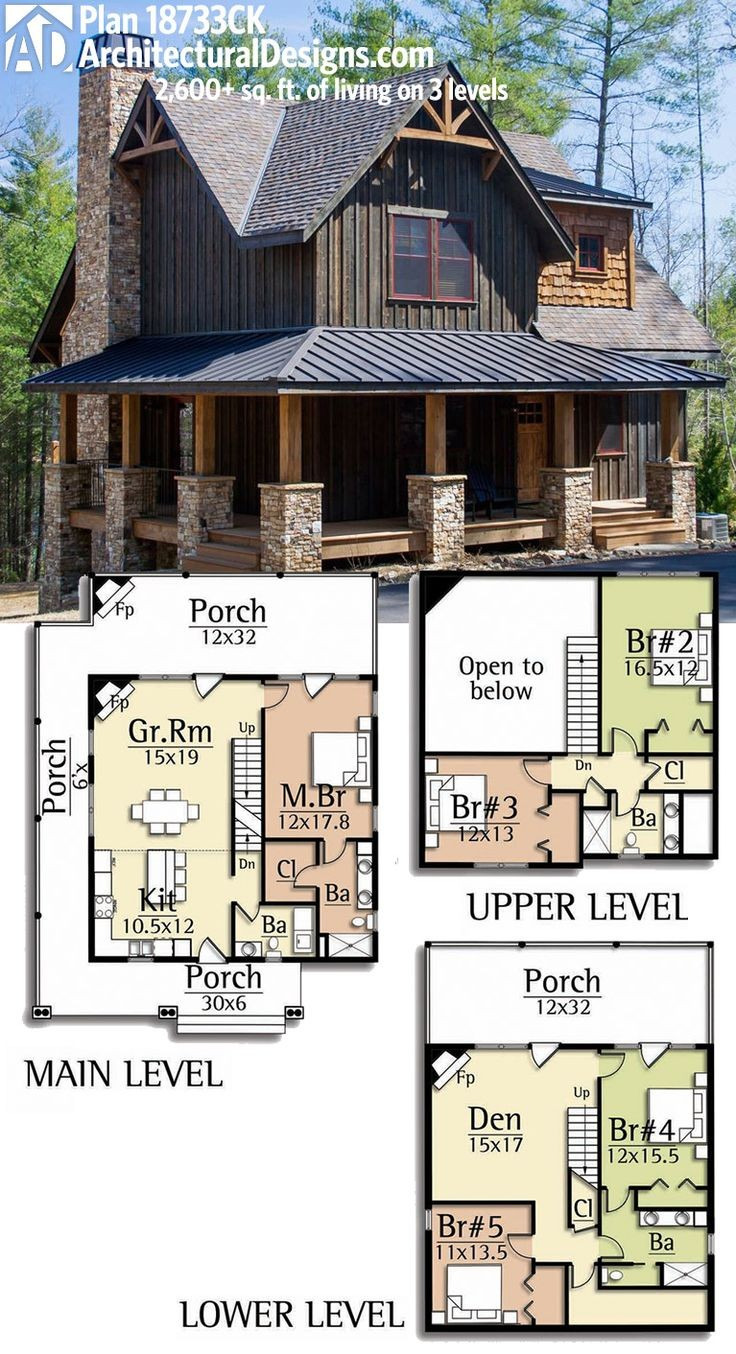 Cabin House Plans with Basement Inspirational Cottage Mediterranean House Plans Narrow Small Lake with