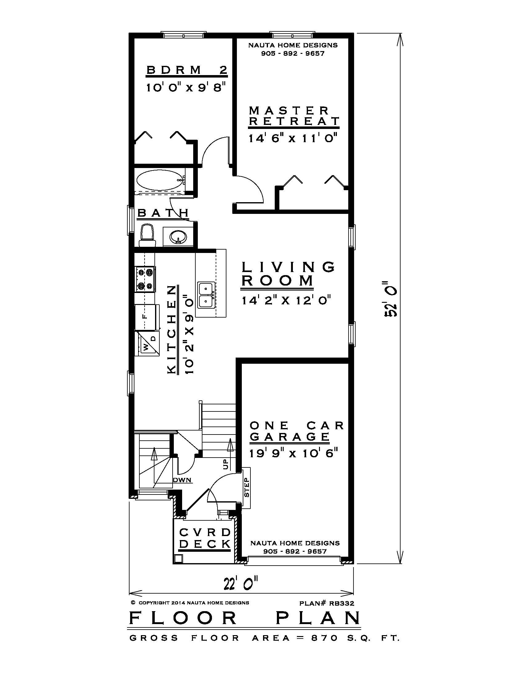 Canadian House Plans with Photos New Raised Bungalow House Plan Rb332 Floor Plan Nauta Home