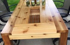 Cedar Deck Furniture Plans Best Of 14 Diy Patio Table With Built In Drink Coolers