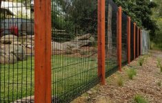 Chain Link Fence Hedge Inserts New Roll Top Fence With Wooden Posts