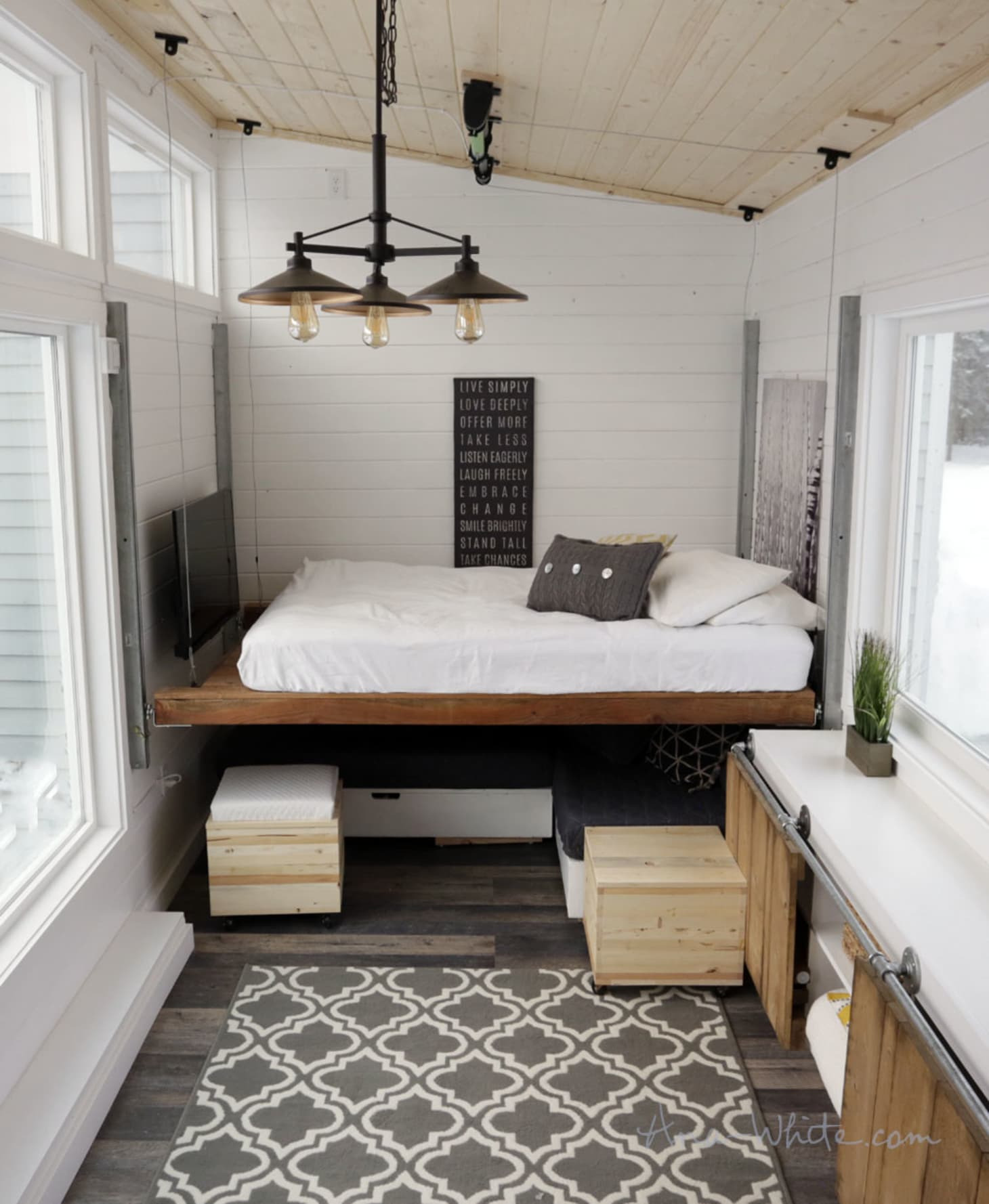 Clever Small House Plans Lovely A Tiny House with A Unique & Clever Bedroom solution