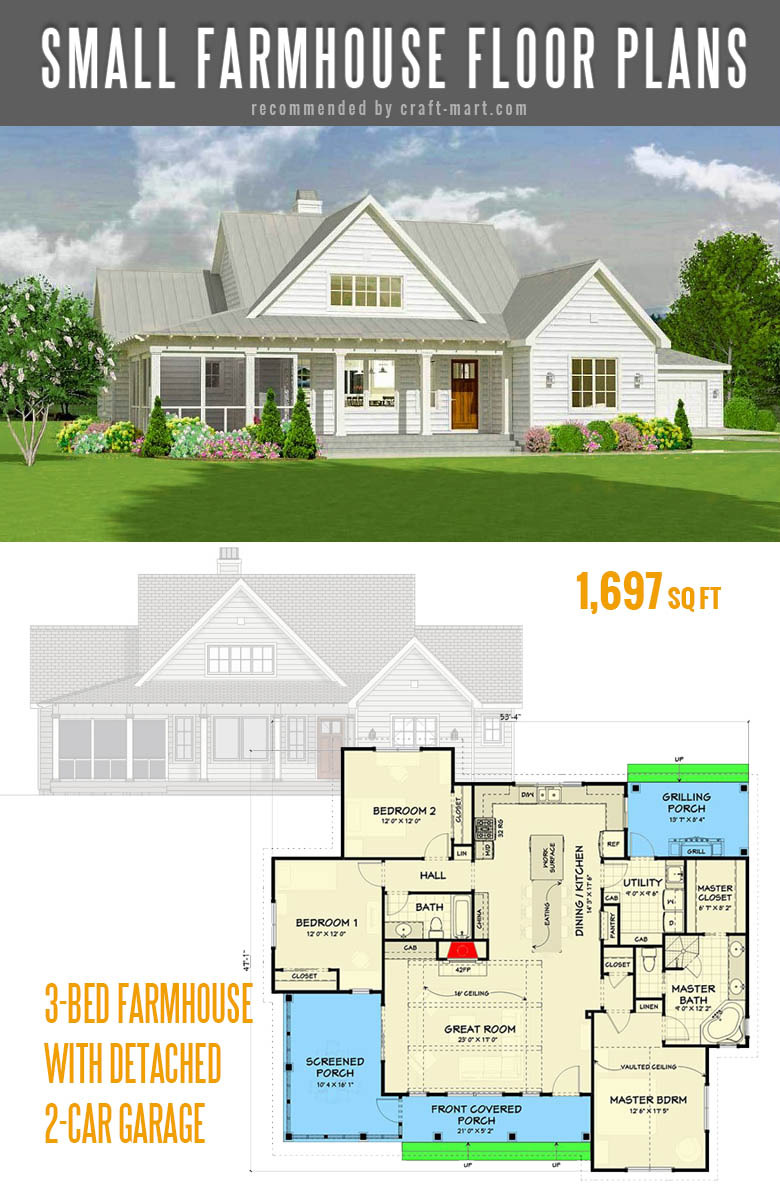 90 small farmhouse plans