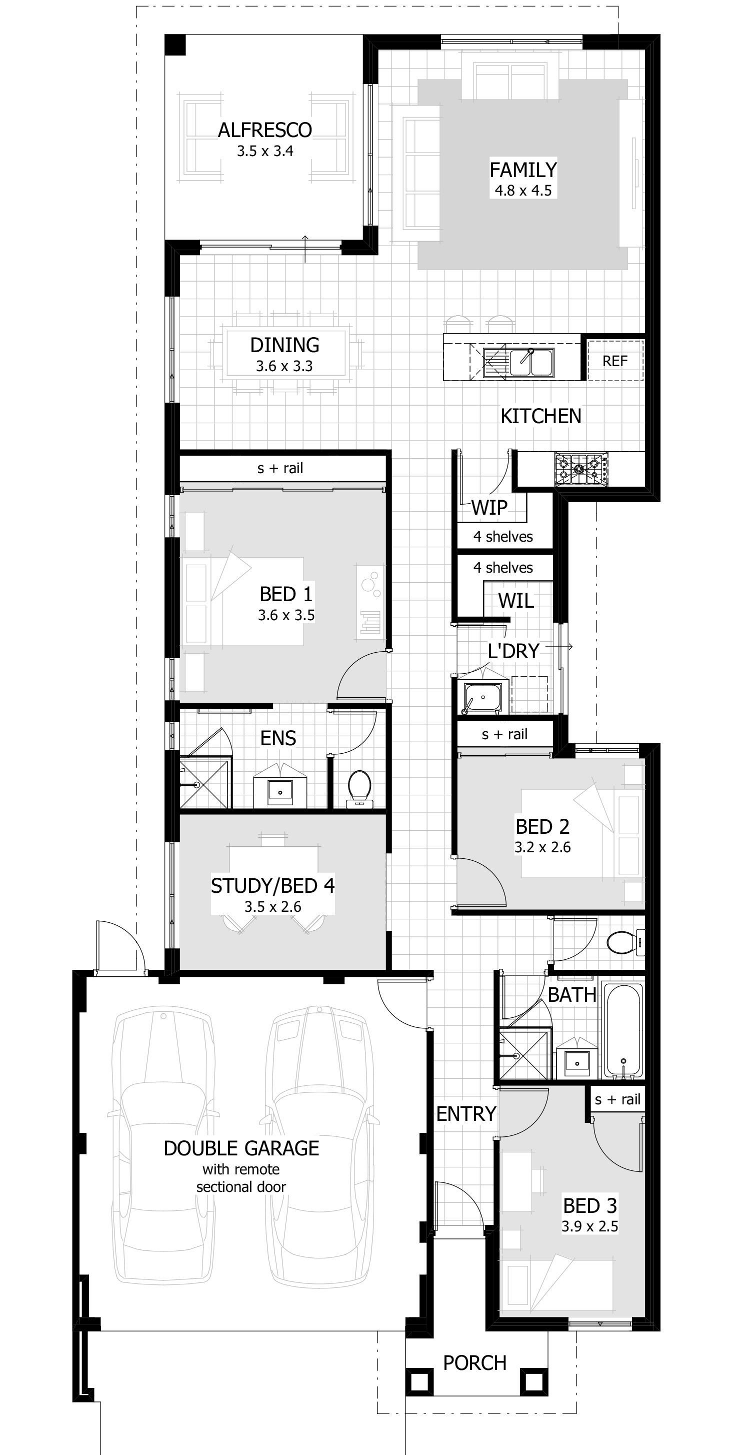 Contemporary Floor Plans for New Homes Awesome House Plans Narrow Block 2 Story Australia Google Search