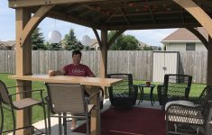 Costco Wood Gazebo With Aluminum Roof Luxury Our Yardistry Gazebo With Custom Bar Top Addition